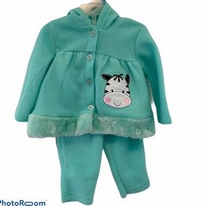 Swiggles Baby Faux Fur Cow Print Outfit NWT
